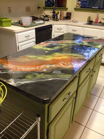 Best ideas about DIY Epoxy Countertops . Save or Pin Epoxy Countertops Plywood Plank Floors and Mosaic Now.