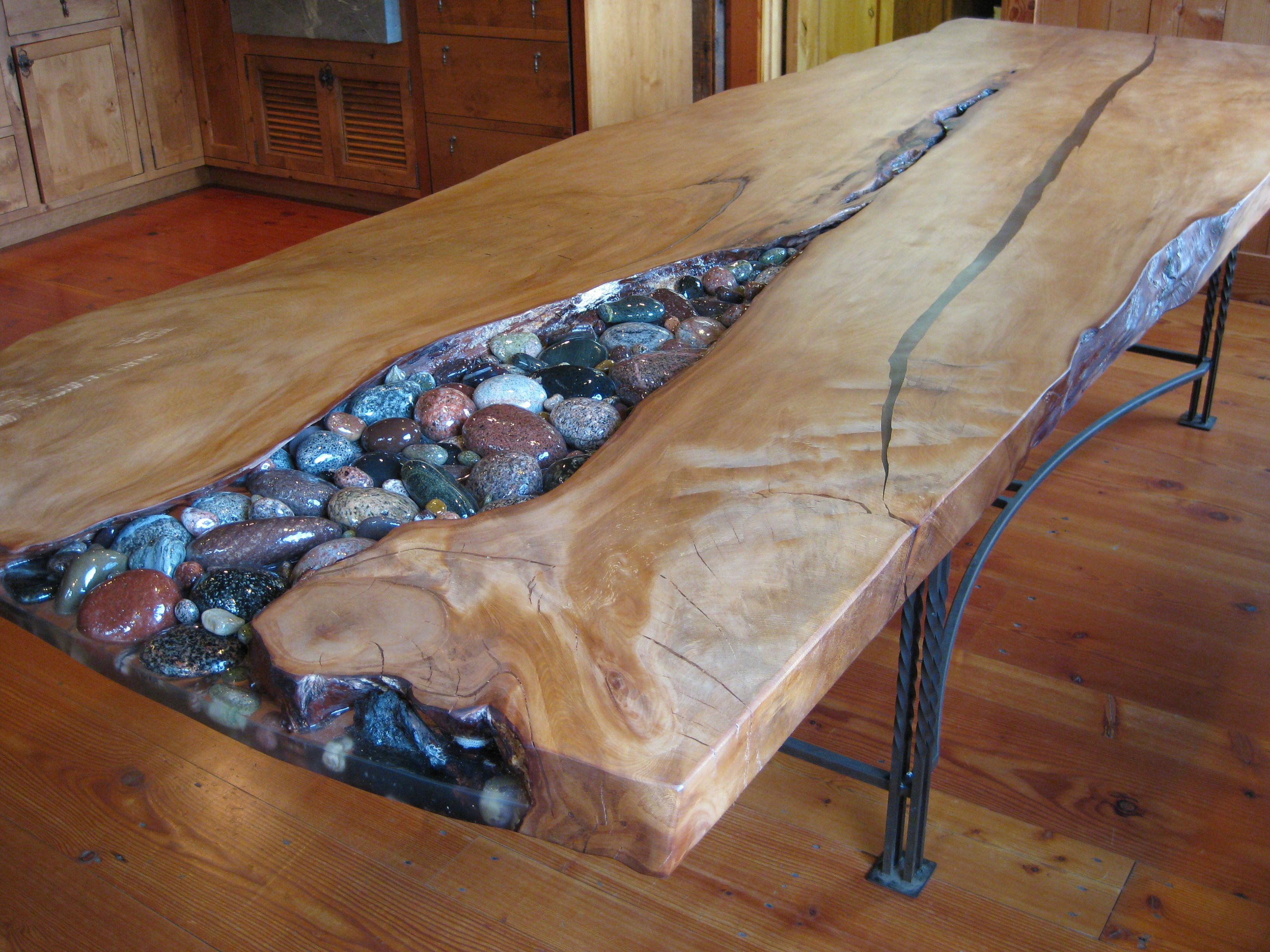 Best ideas about DIY Epoxy River Table . Save or Pin Kauri table bbles not pebbles Now.