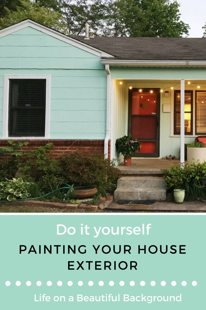 Best ideas about DIY Exterior House Painting . Save or Pin DIY Painting Your House Exterior — Retro Den Now.
