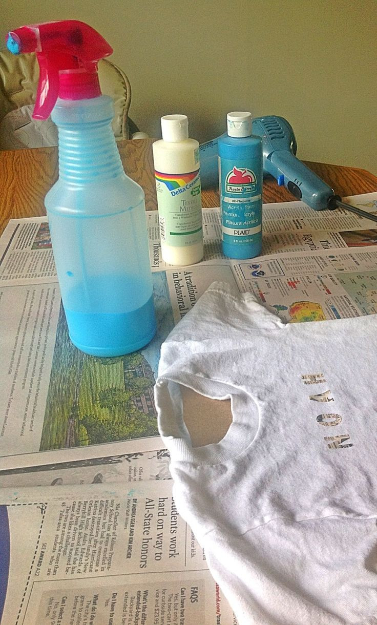 Best ideas about DIY Fabric Paint . Save or Pin Make Your Own Fabric Spray Paint e part acrylic paint Now.