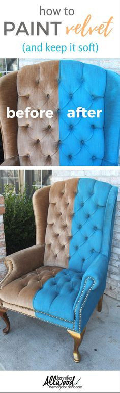 Best ideas about DIY Fabric Paint . Save or Pin Painting Upholstered Furniture on Pinterest Now.