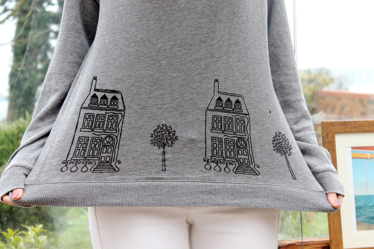 Best ideas about DIY Fabric Paint . Save or Pin DIY Tutorial Customised Jumper using Fabric Paints Now.