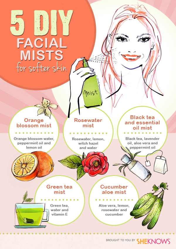 Best ideas about DIY Face Mist . Save or Pin 5 DIY facial mists for softer skin Now.