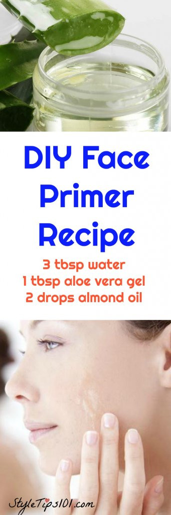 Best ideas about DIY Face Primer . Save or Pin DIY Face Primer Recipes For All Skin Types Now.