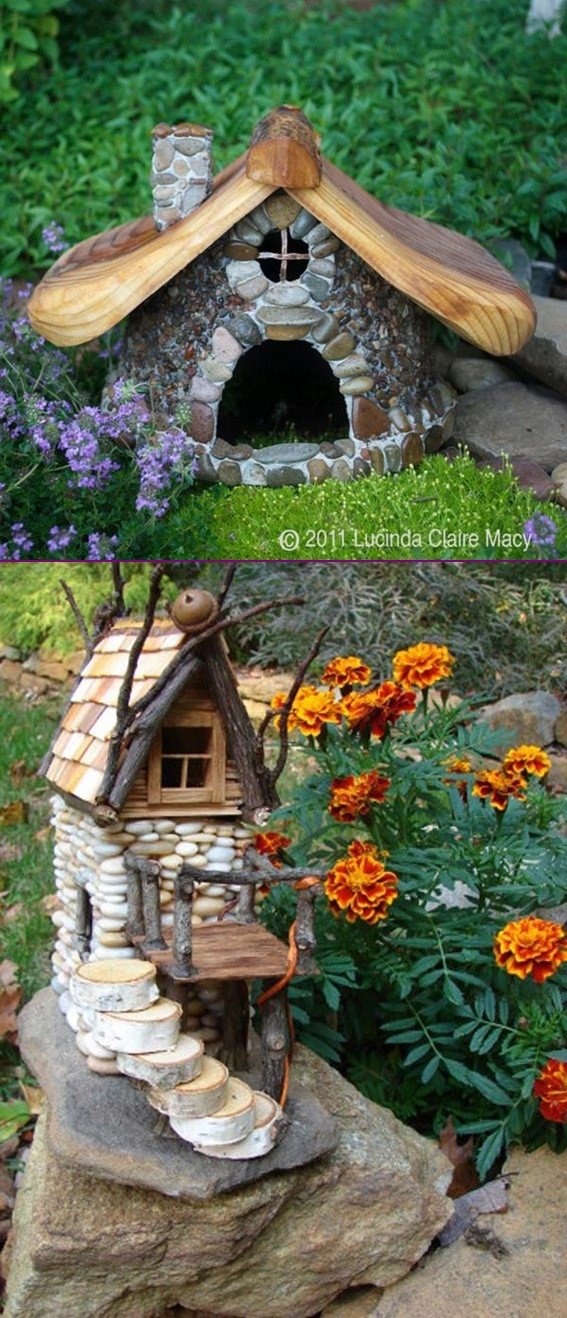 Best ideas about DIY Fairy House . Save or Pin DIY Miniature Stone Fairy House Tutorial Now.