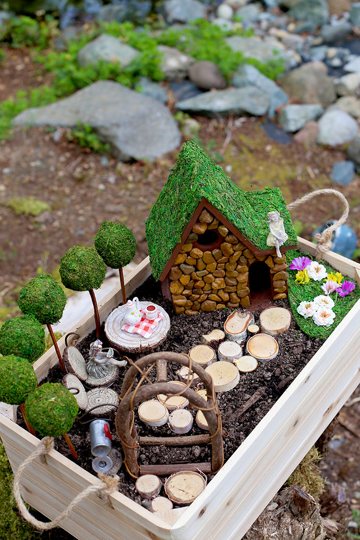 Best ideas about DIY Fairy House . Save or Pin DIY Fairy Garden and Fairy House Tutorial Sew Much Ado Now.