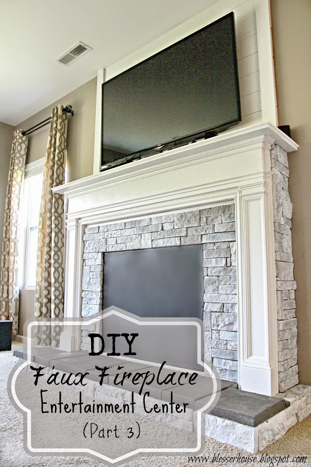 Astonishing The 20 Best Ideas For Diy Fake Fireplace Best Collections Home Interior And Landscaping Ologienasavecom