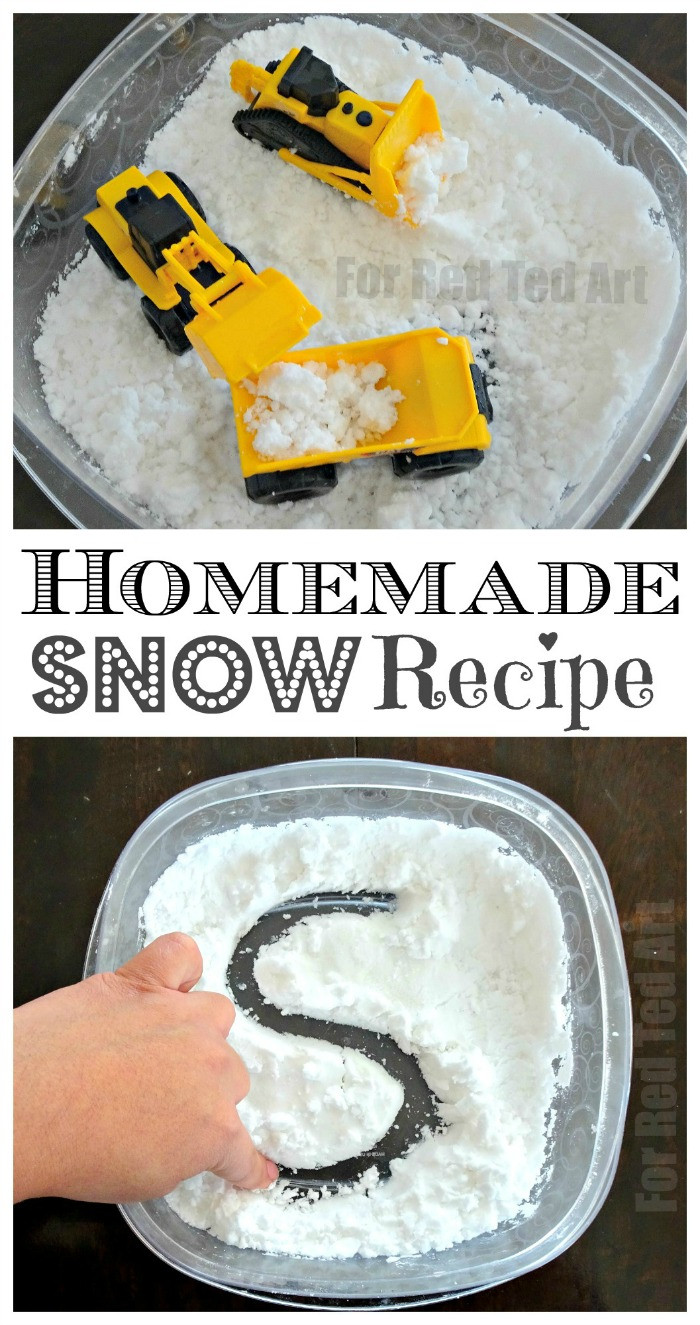 Best ideas about DIY Fake Snow . Save or Pin How to Make Homemade Snow Recipe Red Ted Art s Blog Now.