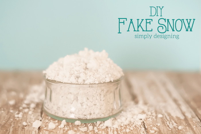Best ideas about DIY Fake Snow . Save or Pin DIY Fake Snow Now.