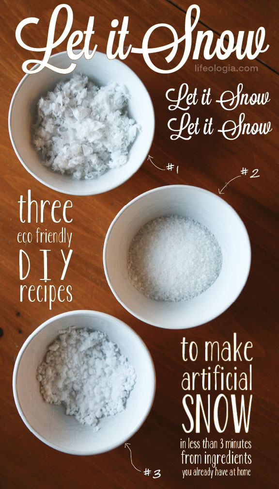 Best ideas about DIY Fake Snow . Save or Pin How to Make Artificial Snow 3 quick & easy eco friendly Now.