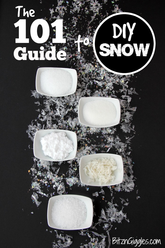 Best ideas about DIY Fake Snow . Save or Pin The 101 Guide to DIY Snow Now.