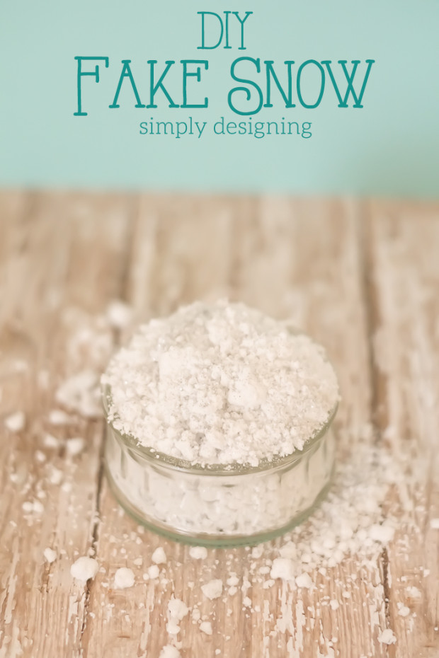 Best ideas about DIY Fake Snow . Save or Pin DIY Fake Snow How to Make Your Own Fake Snow Now.