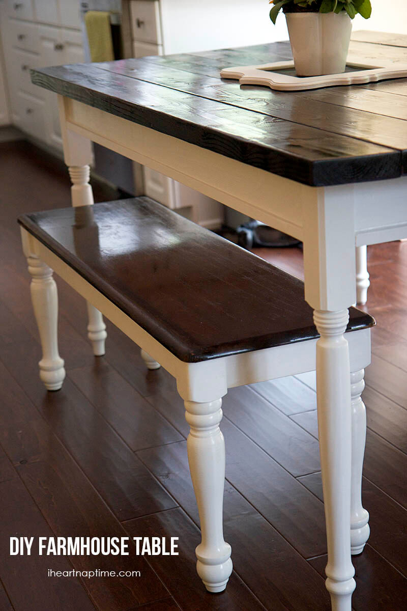 Best ideas about DIY Farmhouse Kitchen Table . Save or Pin DIY farmhouse kitchen table I Heart Nap Time Now.