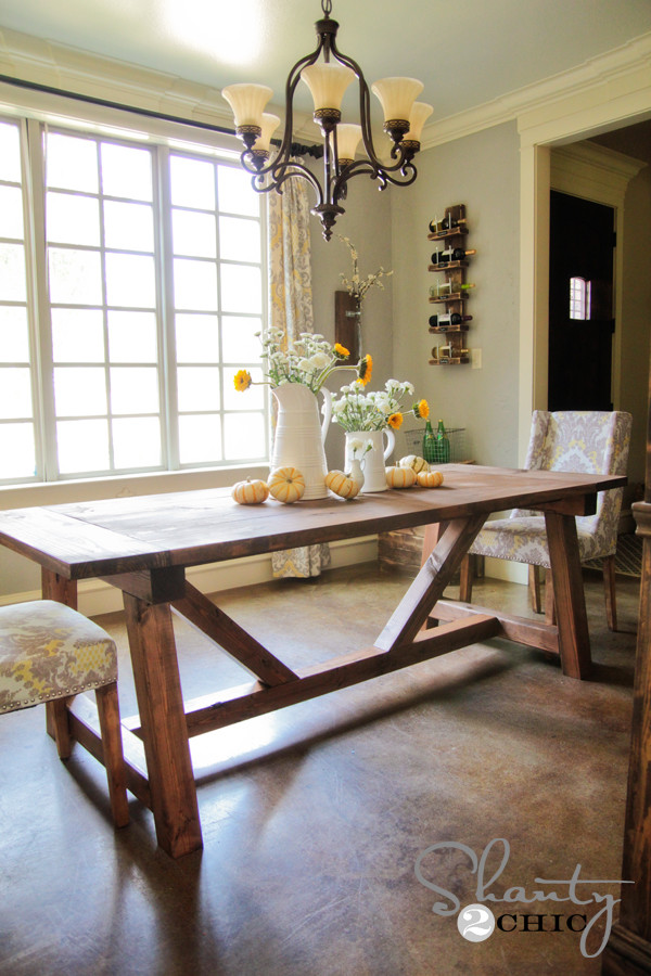 Best ideas about DIY Farmhouse Kitchen Table . Save or Pin Restoration Hardware Inspired Dining Table for $110 Now.