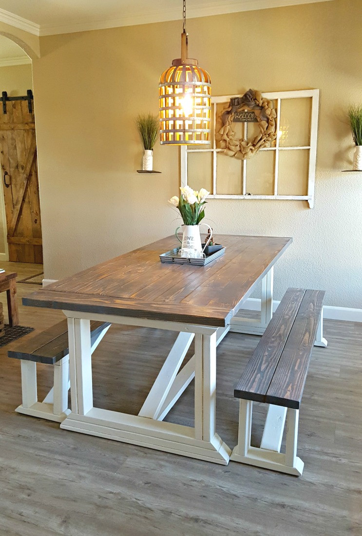 Best ideas about DIY Farmhouse Kitchen Table . Save or Pin DIY Farmhouse Table Leap of Faith Crafting Now.