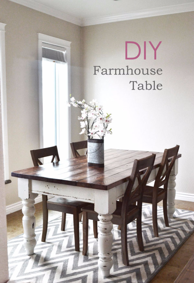 Best ideas about DIY Farmhouse Kitchen Table . Save or Pin 38 DIY Dining Room Tables Now.