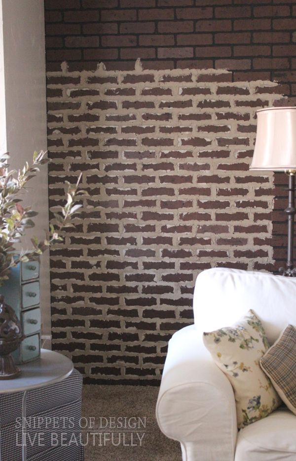 Best ideas about DIY Faux Brick Wall . Save or Pin DIY Faux Brick Wall Snippets of Design Now.