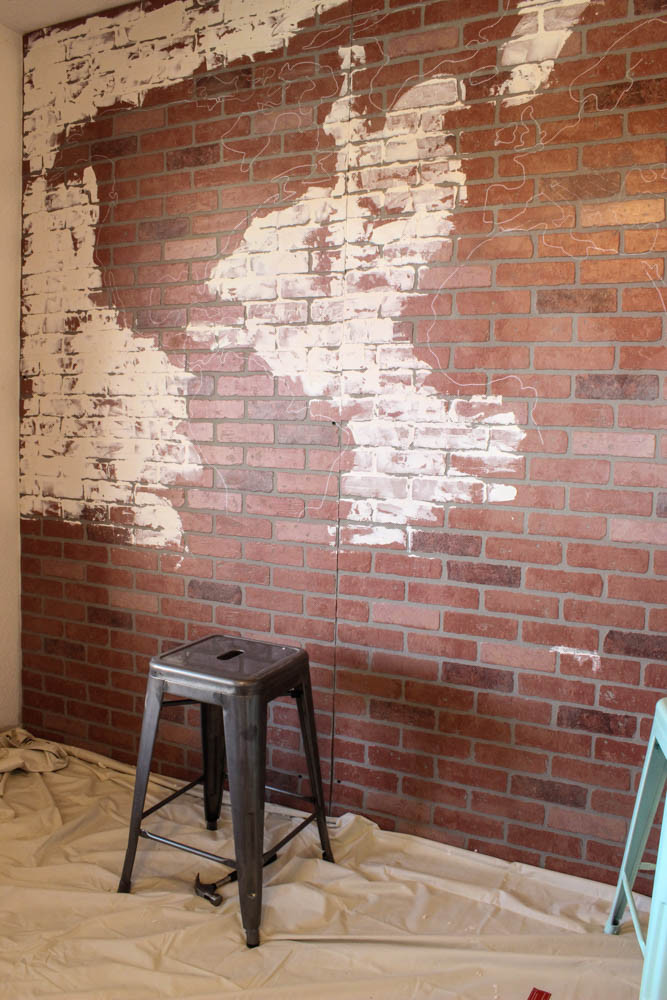 Best ideas about DIY Faux Brick Wall . Save or Pin DIY Projects Faux Brick Wall World Map a Giveaway Now.