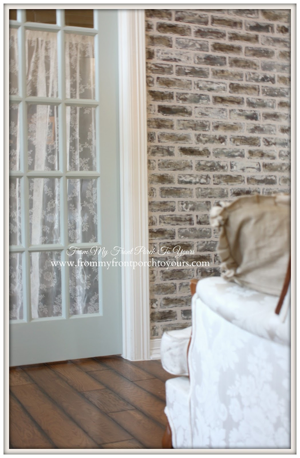 Best ideas about DIY Faux Brick Wall . Save or Pin From My Front Porch To Yours DIY Faux Brick Wall Reveal Now.
