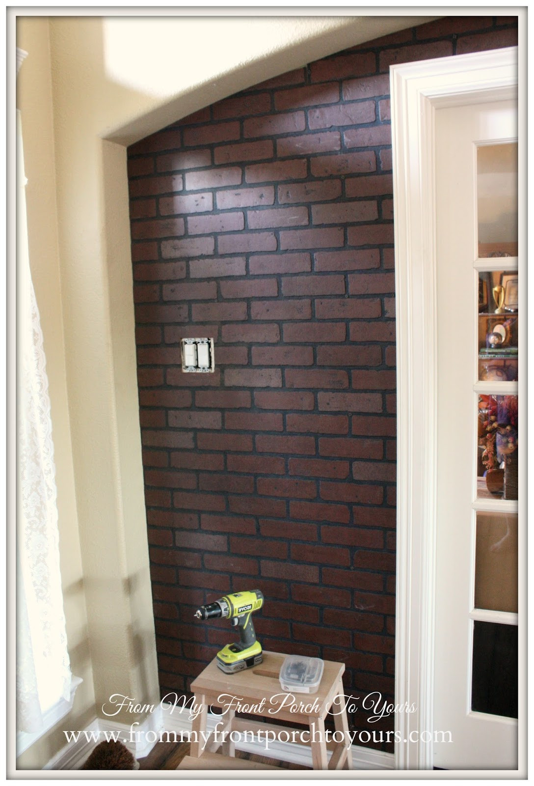 Best ideas about DIY Faux Brick Wall . Save or Pin From My Front Porch To Yours DIY Faux Brick Wall Part 1 Now.