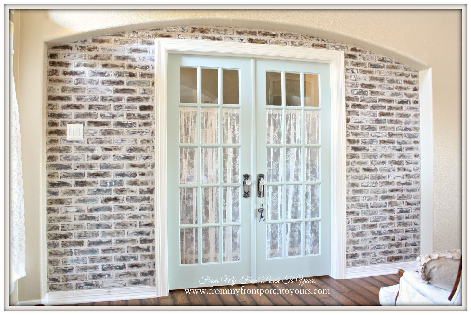 Best ideas about DIY Faux Brick Wall . Save or Pin From My Front Porch To Yours DIY Faux Brick Wall Tutorial Now.
