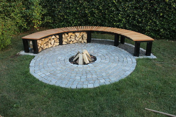 Best ideas about DIY Fire Pit Bench . Save or Pin 35 DIY Fire Pit Ideas Hative Now.