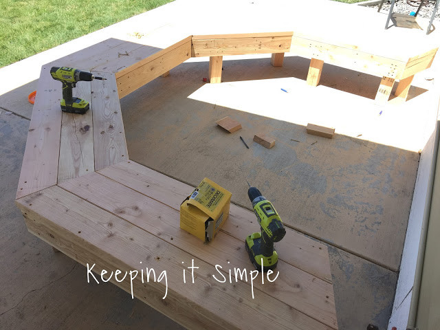 Best ideas about DIY Fire Pit Bench . Save or Pin DIY Fire Pit Bench with Step by Step Insructions • Keeping Now.