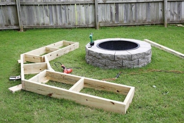 Best ideas about DIY Fire Pit Bench . Save or Pin Diy Circle Bench Around Your Fire Pit Now.