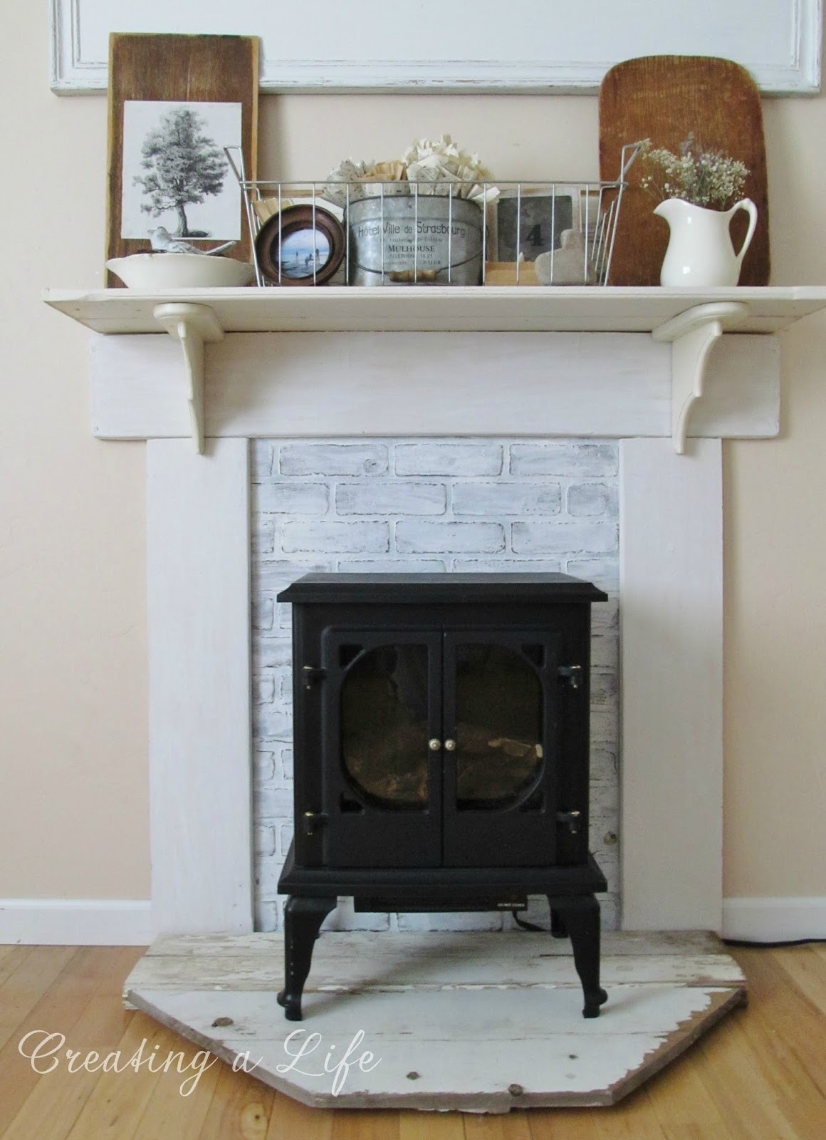Best ideas about DIY Fireplace Mantel Ideas . Save or Pin DIY Fake Fireplace Mantel Now.