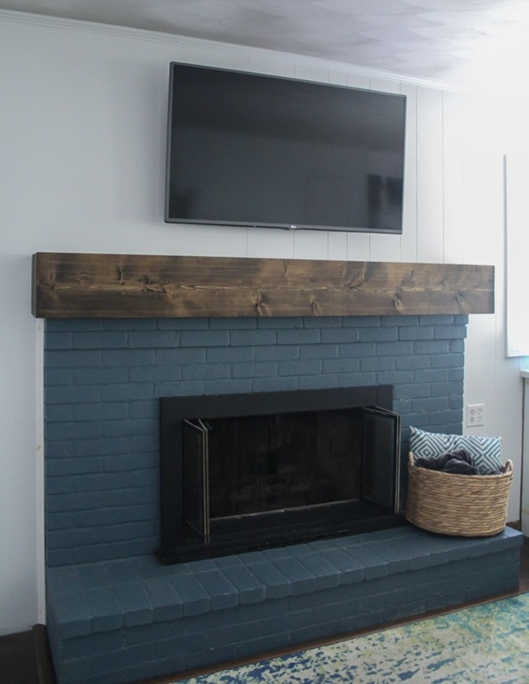 Best ideas about DIY Fireplace Mantel Ideas . Save or Pin DIY rustic fireplace mantel the cure for a boring Now.