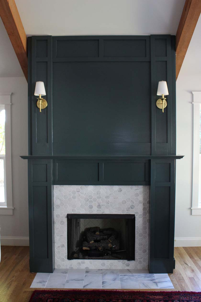 Best ideas about DIY Fireplace Mantel Ideas . Save or Pin DIY Faux Fireplace Surround Now.