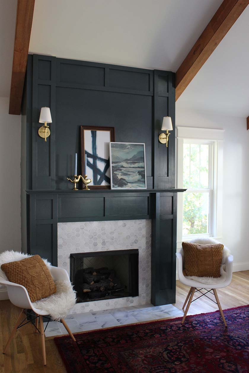 Best ideas about DIY Fireplace Mantel Surround Plans . Save or Pin DIY Faux Fireplace Surround Now.