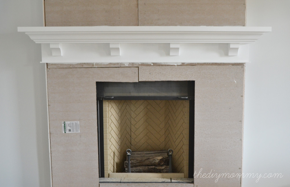 Best ideas about DIY Fireplace Mantel Surround Plans . Save or Pin Building Our Fireplace The DIY Mantel Our DIY House Now.
