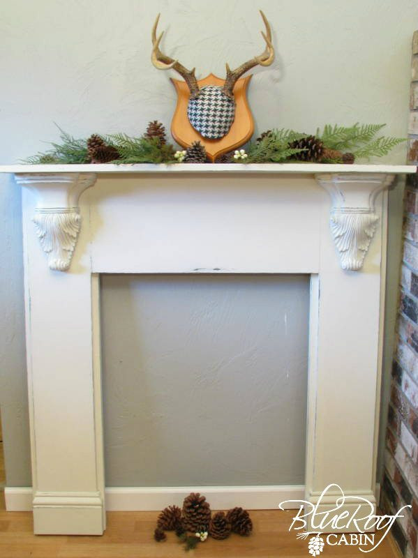 Best ideas about DIY Fireplace Mantel Surround Plans . Save or Pin How To Faux Mantel Now.