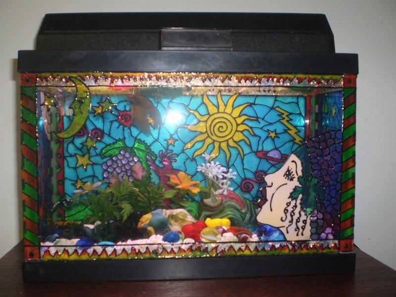 Best ideas about DIY Fish Tank Decor . Save or Pin DIY Painted Aquarium Decor petdiys Now.