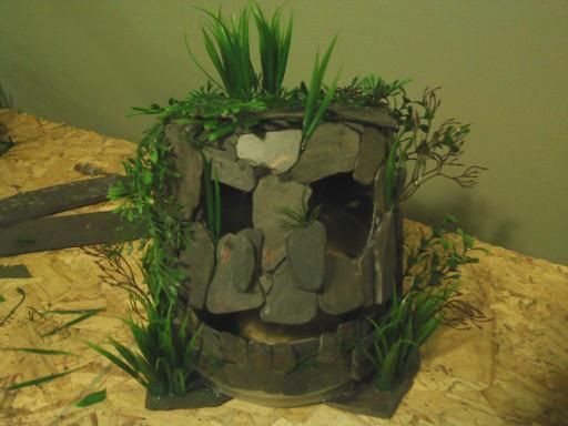 Best ideas about DIY Fish Tank Decor . Save or Pin Monster Fish Cave Made From Slate Tiles Now.