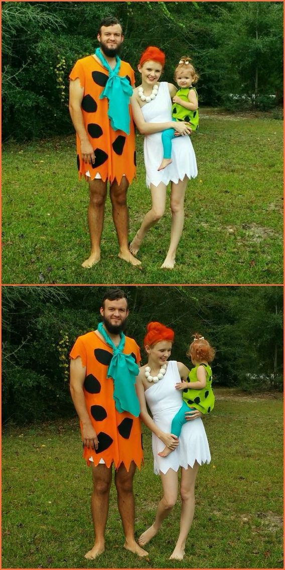 Best ideas about DIY Flintstone Costumes . Save or Pin Our family Halloween costume DIY Halloween costume The Now.