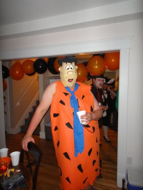 Best ideas about DIY Flintstone Costumes . Save or Pin Fred flintstone costume Flintstones costume and Fred Now.