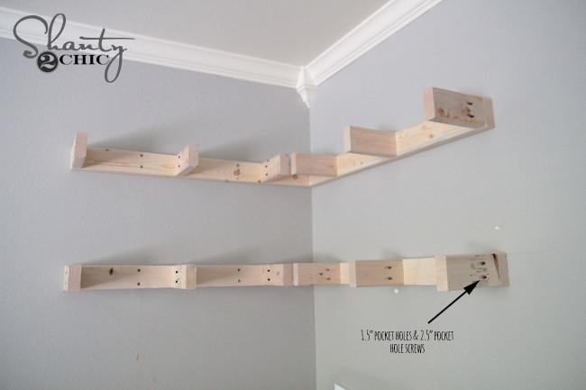 Best ideas about DIY Floating Corner Shelves . Save or Pin DIY Floating Corner Shelves Shanty 2 Chic Now.