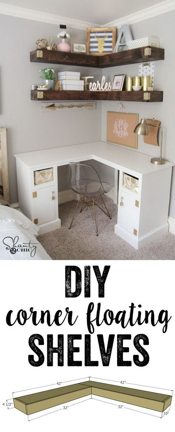 Best ideas about DIY Floating Corner Shelves . Save or Pin 20 Stylish DIY Shelves With Lots of Tutorials Noted List Now.