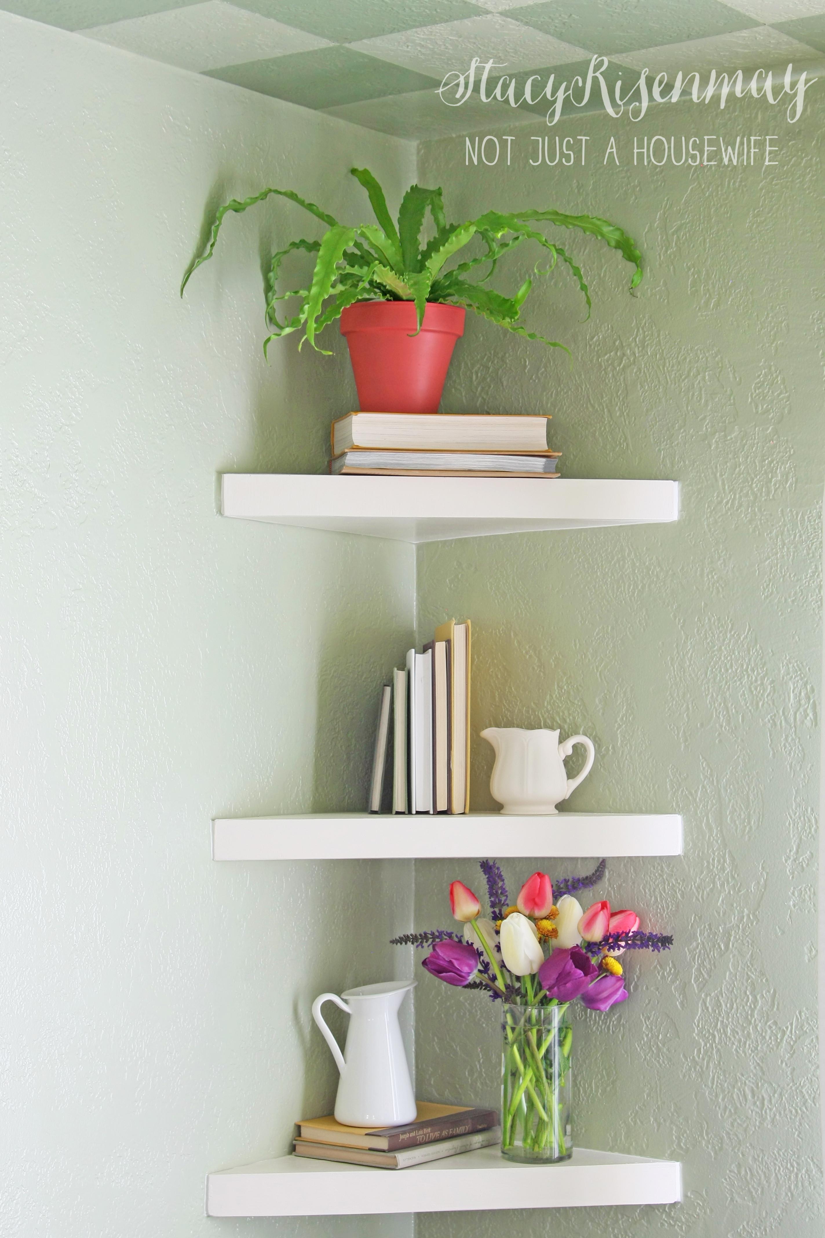 Best ideas about DIY Floating Corner Shelves . Save or Pin Floating Corner Shelves Now.