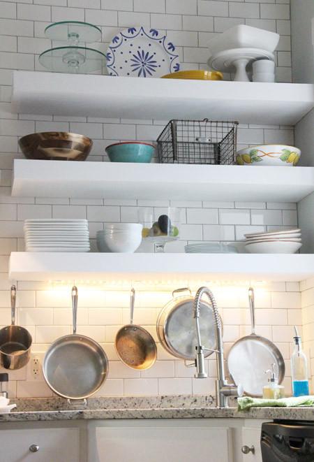 "Best ideas about DIY Floating Kitchen Shelves . Save or Pin ""Chunky"" DIY Floating Kitchen Shelves Now."