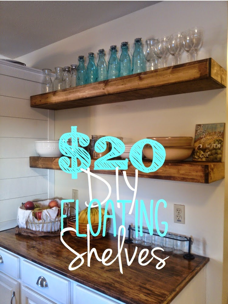 Best ideas about DIY Floating Kitchen Shelves . Save or Pin Bliss Street DIY Floating Shelves for $20 each Now.