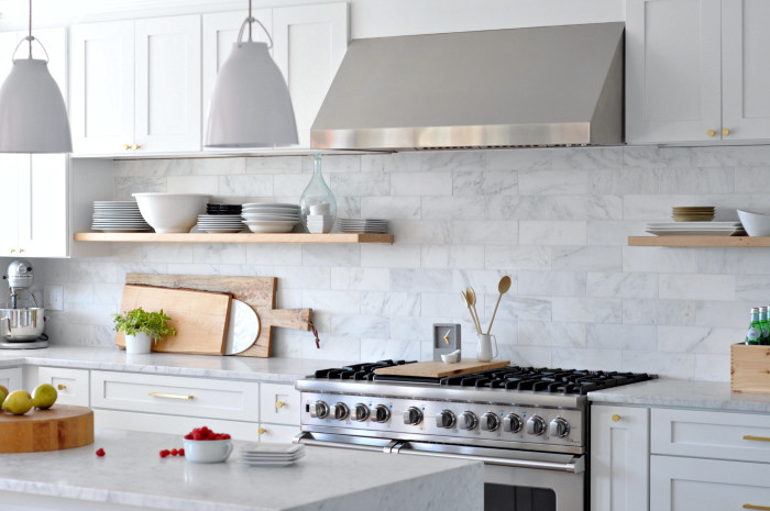 Best ideas about DIY Floating Kitchen Shelves . Save or Pin DIY Heavy Duty Bracket Free Floating Kitchen Shelves Now.