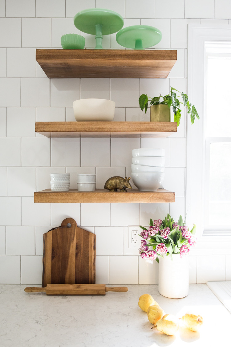Best ideas about DIY Floating Kitchen Shelves . Save or Pin How to Make DIY Floating Shelves Live Free Creative Co Now.
