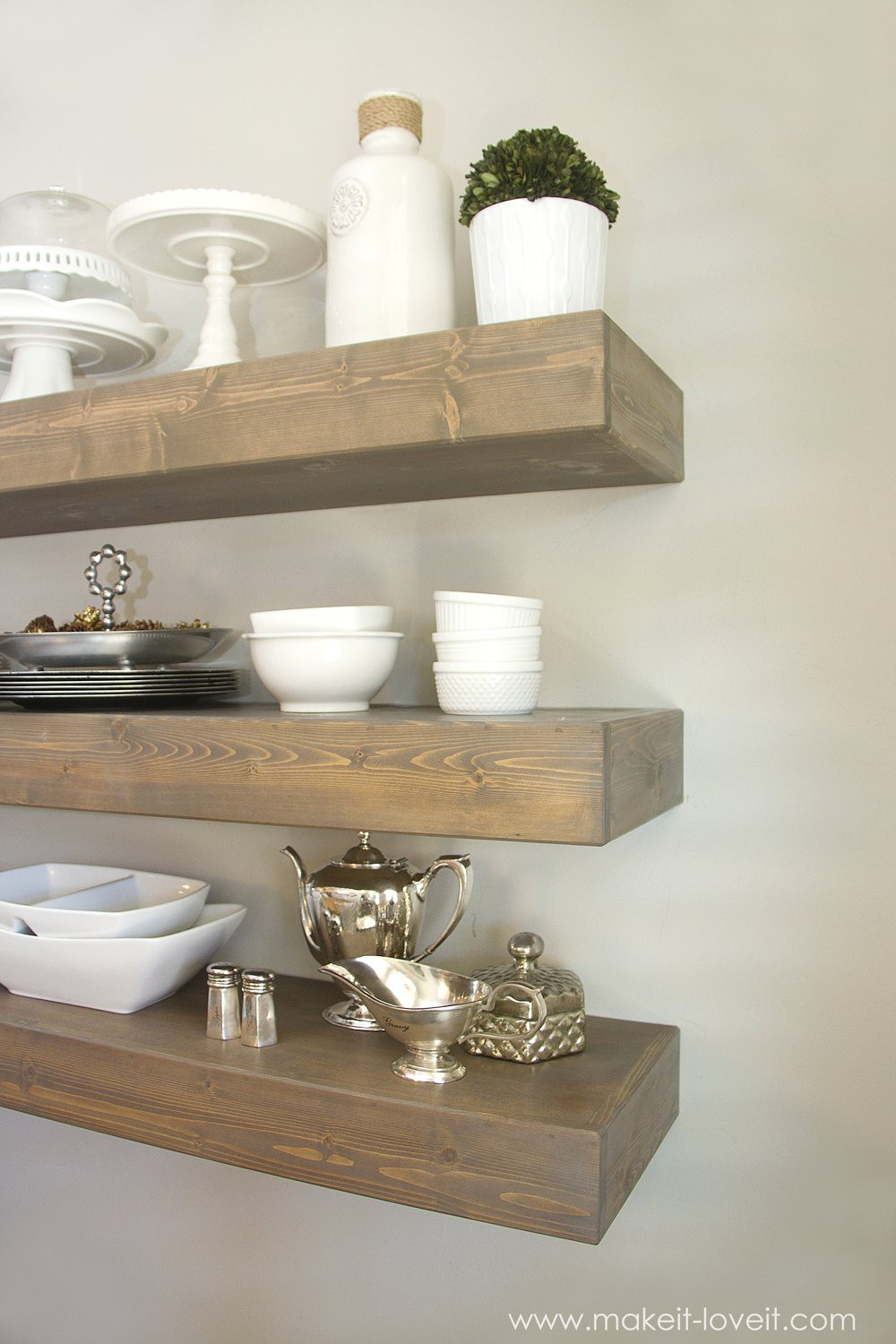Best ideas about DIY Floating Kitchen Shelves . Save or Pin Fabulous DIY Floating Shelves to Make landeelu Now.