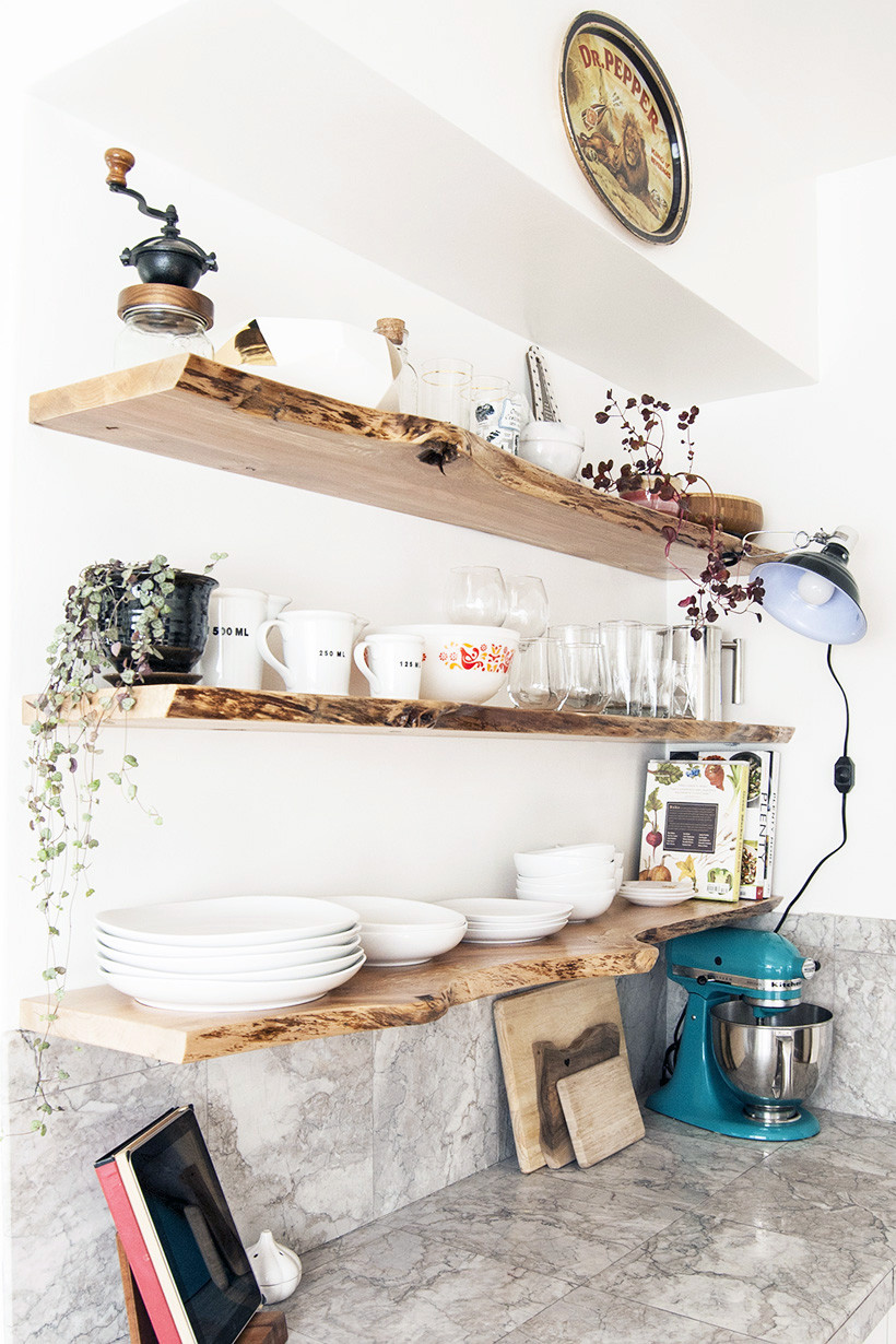 Best ideas about DIY Floating Kitchen Shelves . Save or Pin Kitchen Progress Live Edge Floating Shelves DIY in PDX Now.
