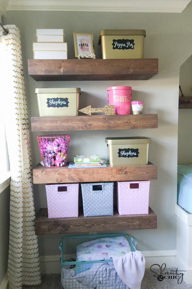 Best ideas about DIY Floating Shelves Plans . Save or Pin DIY Floating Shelves Plans and Tutorial Shanty 2 Chic Now.