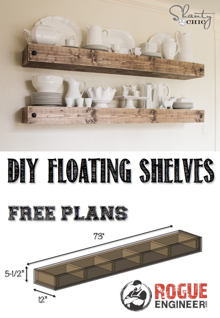 Best ideas about DIY Floating Shelves Plans . Save or Pin DIY Floating Shelf Free Plans Now.