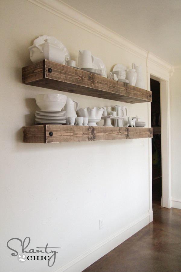 Best ideas about DIY Floating Shelves Plans . Save or Pin DIY Floating Shelf Plans for the Dining Room Shanty 2 Chic Now.